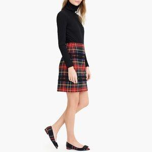 J.CREW NWT Mini Skirt in Lurex Stewart Tartan 8